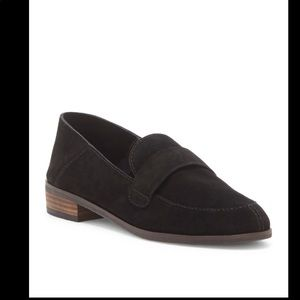 LUCKY BRAND Cheenie Black Suede Loafers